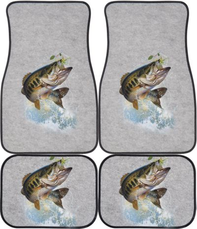Fish And Hook Largemouth Bass Car Mats