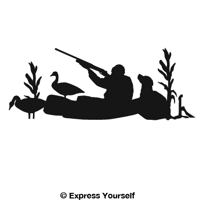 Goose hunt layout blind decal for Duck hunting mural