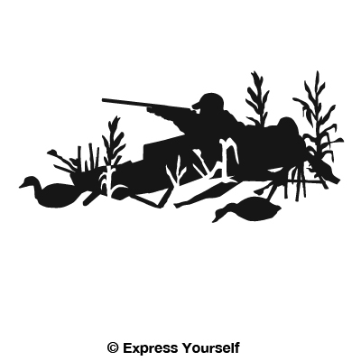 Duck Hunting Layout Blind Decal