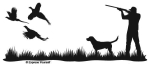 Pheasant Heaven Lab Wall Decal