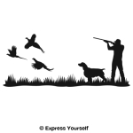 Pheasant Heaven Springer Mural Decal