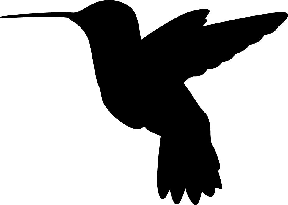 Hummingbird Silhouette Wall Decal