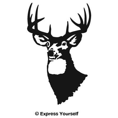 Whitetail Stag Decal