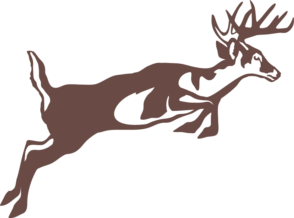 Leaping whitetail deer wall decal for Deer mural decal