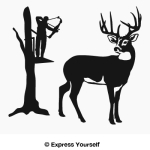 Silent Shot Buck Decal