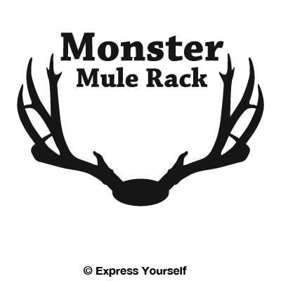 Deer Rack Identification Monster Mule Deer Rack Decal