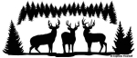 Back Country Bucks Mural Decal