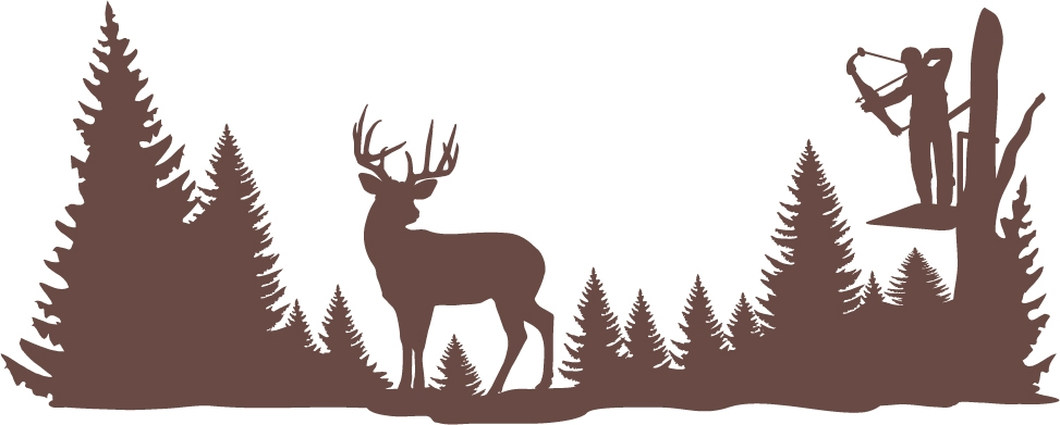 Clear shot whitetail deer wall decal for Deer mural decal