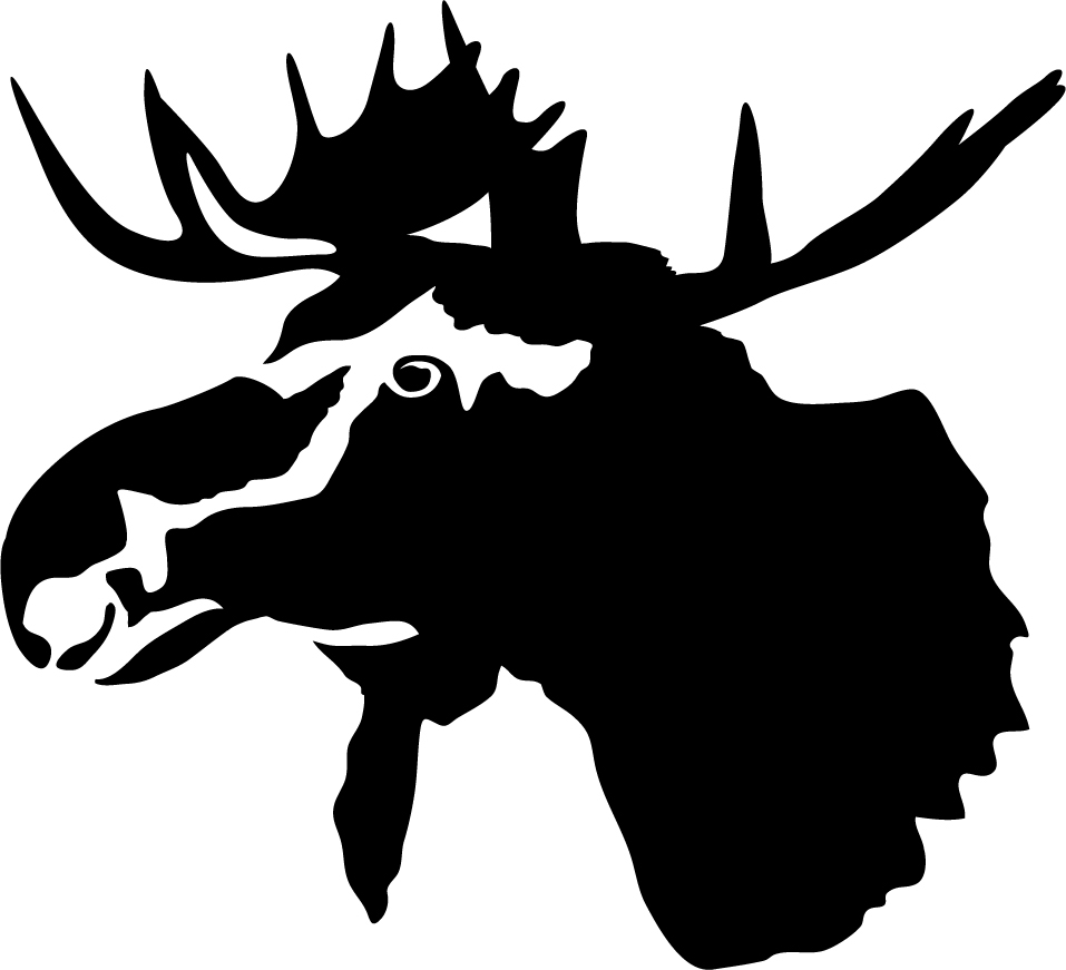 Moose Head Detail Wall Decal