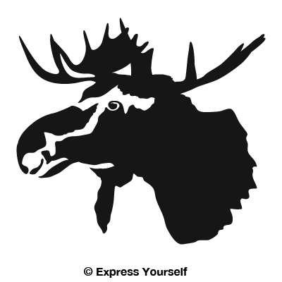 Moose Head Detail Decal