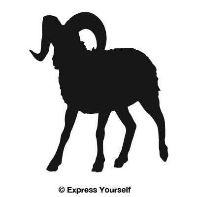 White Gear Icon Bighorn Sheep Walking ...