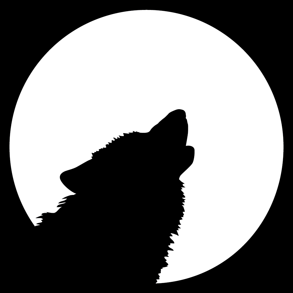 Howling At The Moon Wolf Wall Decal