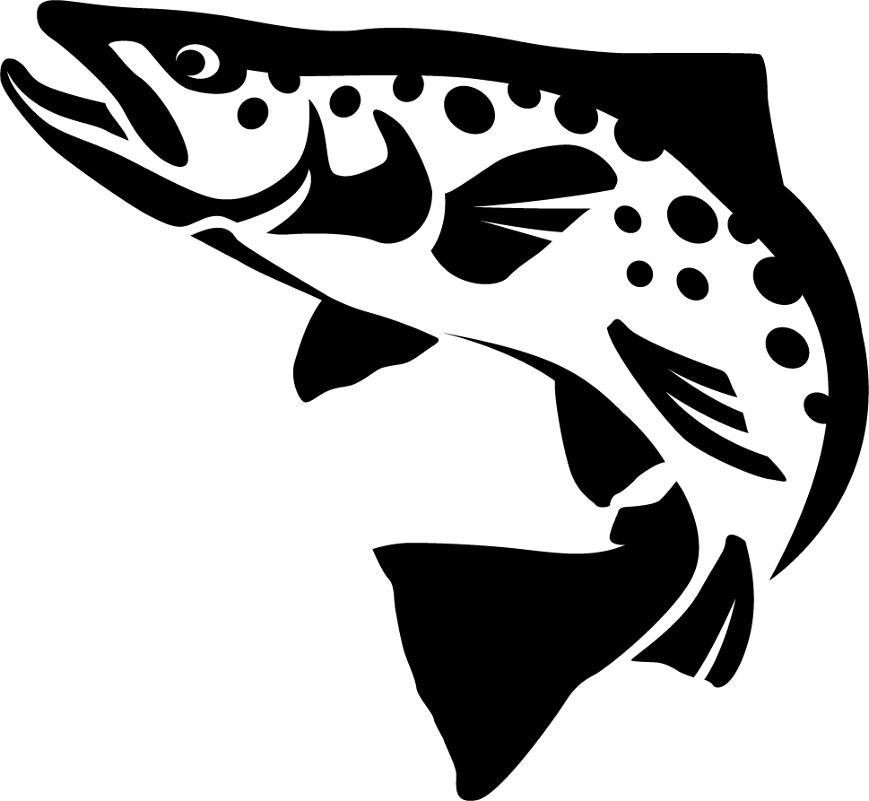 Brown trout wall decal for Fishing stickers and decals