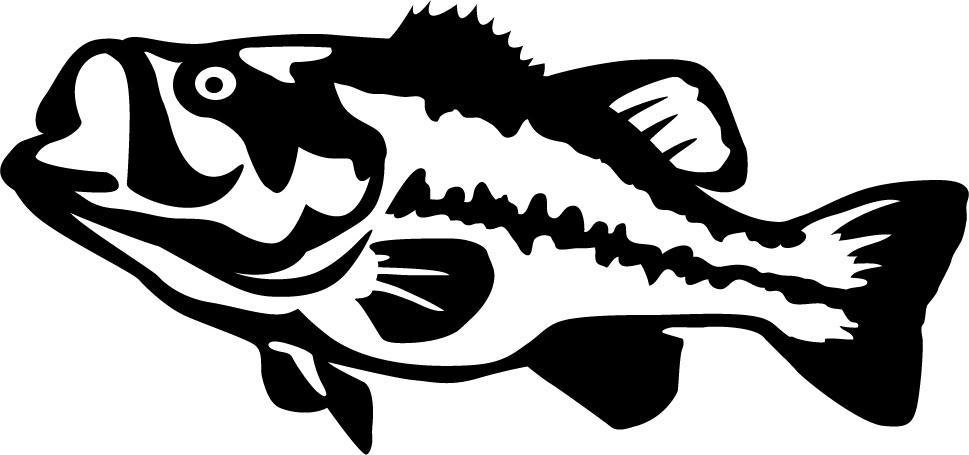 man cave garage design ideas - mouth Bass Detailed Wall Decal