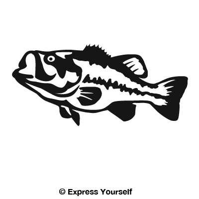 Largemouth Bass Detailed Decal