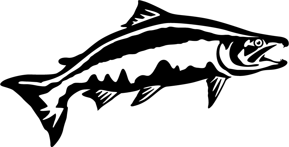 Chinook Salmon Leap Wall Decal