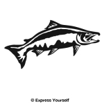 Chinook Salmon Leap Decal