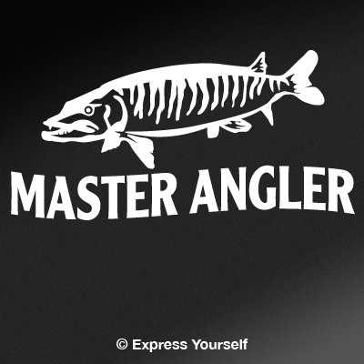 Master Angler Muskie Decal