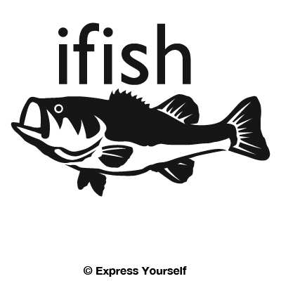 Ifish Bass Decal