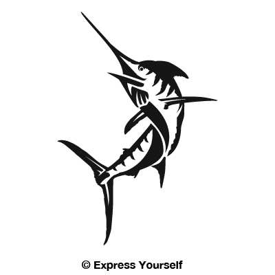 Marlin decal for Saltwater fishing decals