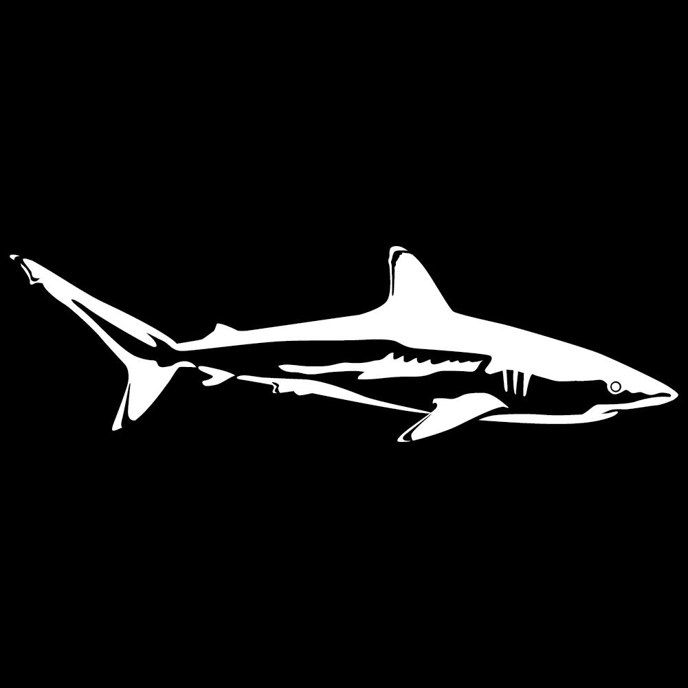 reef shark wall decal. Black Bedroom Furniture Sets. Home Design Ideas