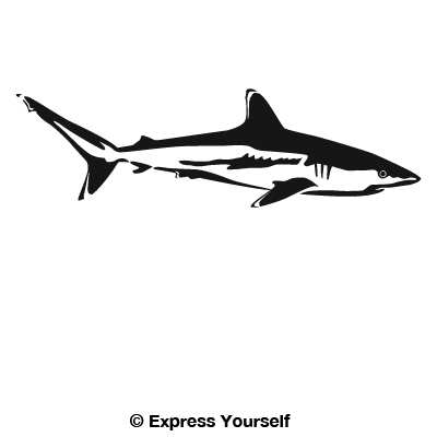 Reef shark decal for Saltwater fishing decals