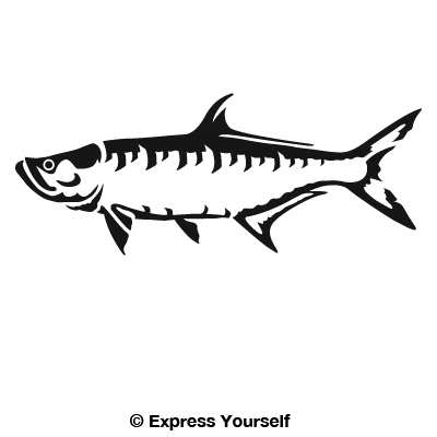 Tarpon decal for Saltwater fishing decals
