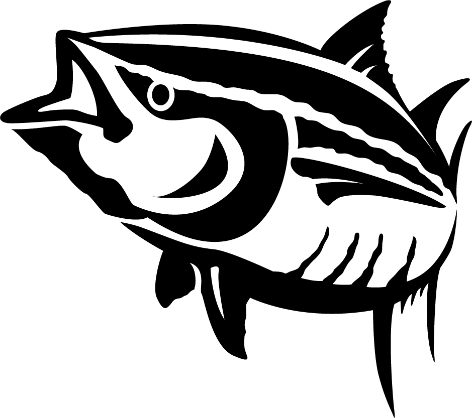 car garage logo ideas - Yellowfin Tuna Wall Decal