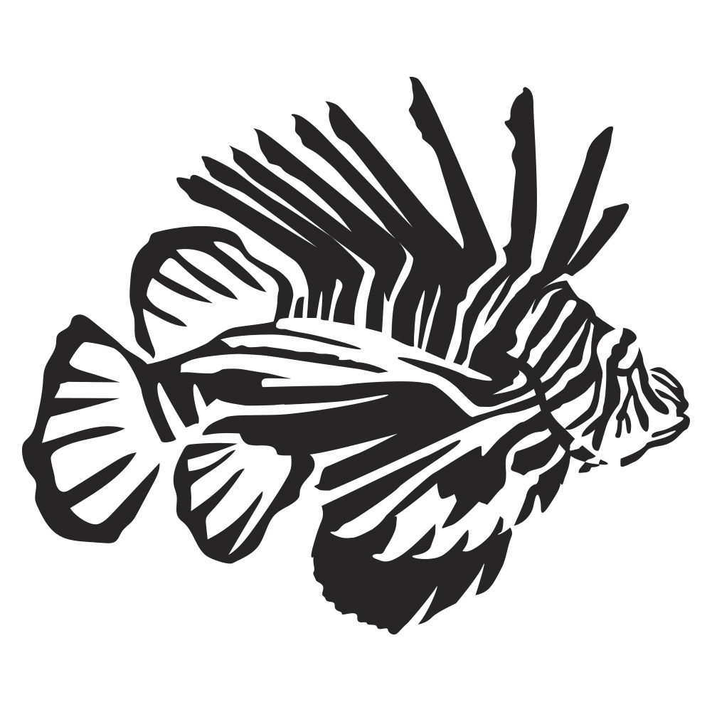 Lionfish Wall Decal