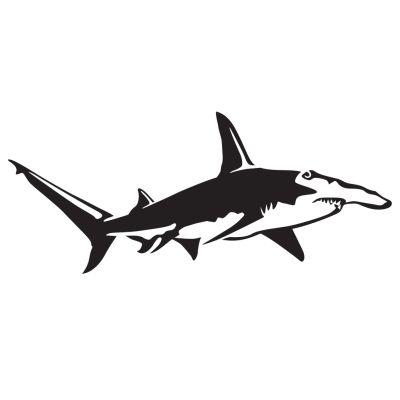 New Great Hammerhead Shark Decal KO44