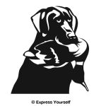 Black Lab Good Dog Decal
