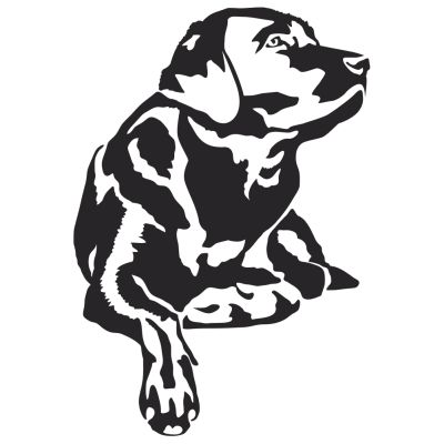 Checking The Wind Lab Hunting Dog Decal - Sporting dog decals