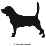 Standing Beagle Decal