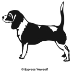 Beagle Profile Decal