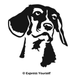 Beagle Portrait Decal