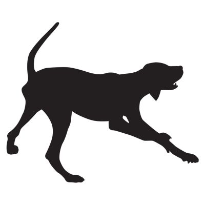 Baying Hound Decal - Sporting dog decals