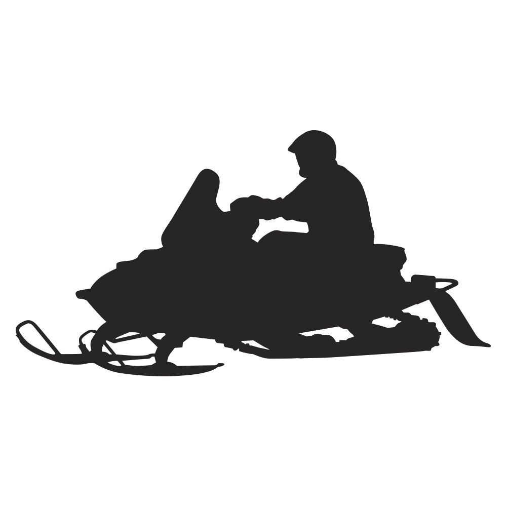 ideas for man cave in garage - the Trail Snowmobile Wall Decal