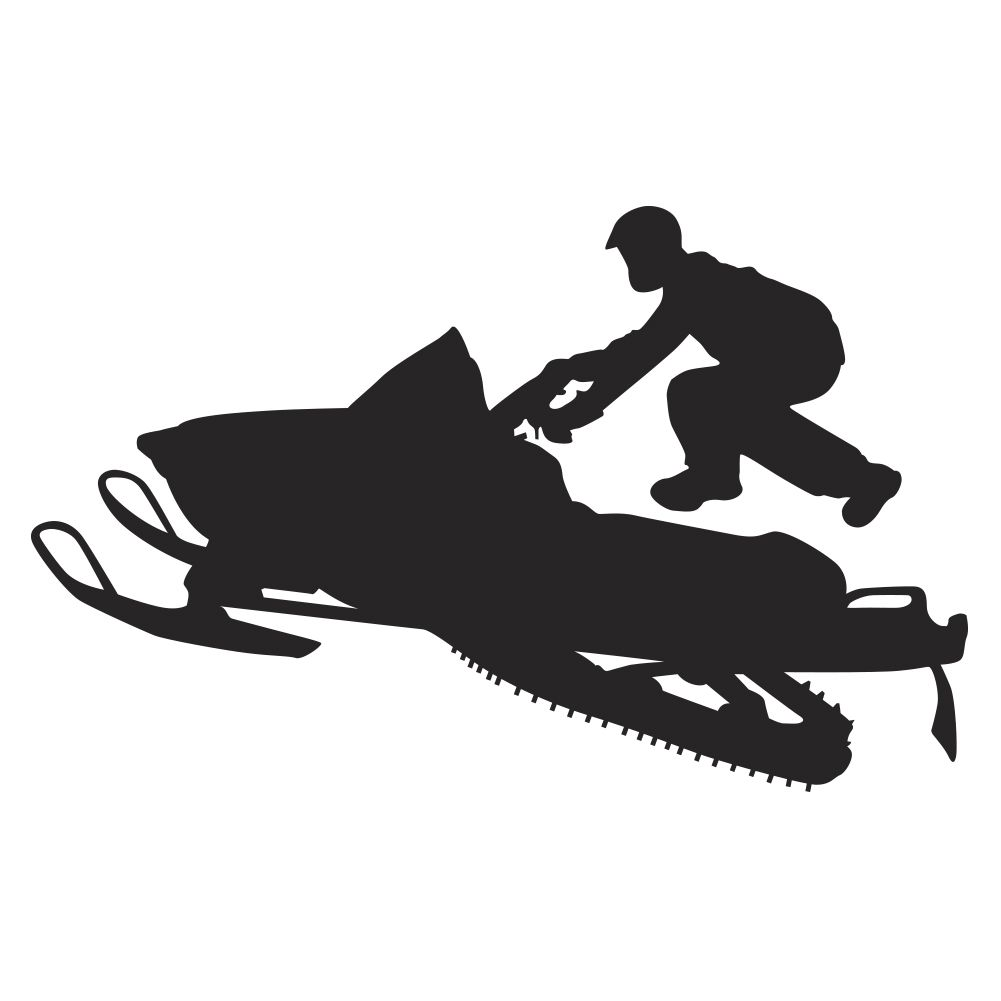 vintage garage ideas - High Jump Snowmobile Wall Decal