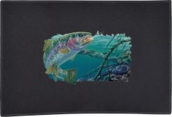 Swim Meet Rainbow Trout Door Mat