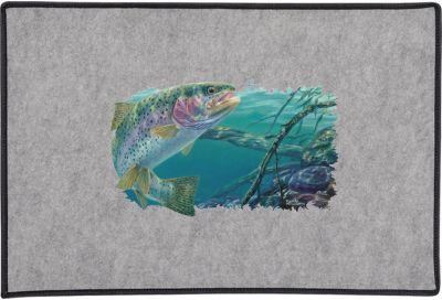 Swim Meet Rainbow Trout Door Mat