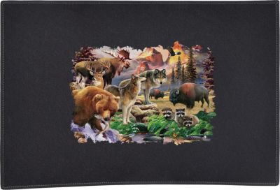 Forest Friends North American Wildlife Door Mat