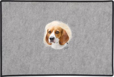 Beagle Head Door Mat