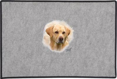 Yellow Labrador Head Door Mat