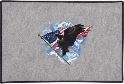 Patriotic Flying Eagle Door Mat