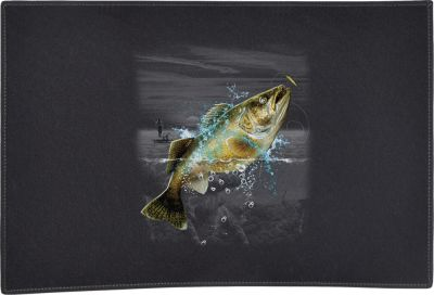 Walleye Wilderness Door Mat