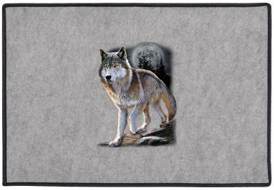 Wolf Alert Door Mat