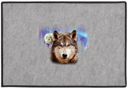 Wolf Lightning Door Mat