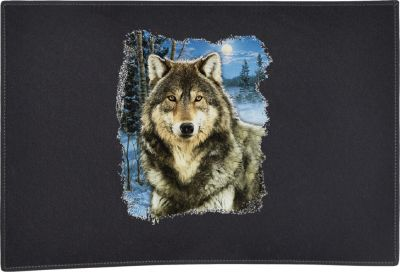 Winter Wolf Door Mat