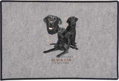 Black Lab Collage Door Mat