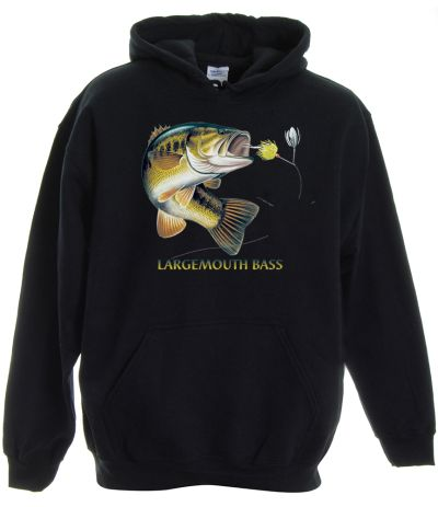 Largemouth bass combo pullover hooded sweatshirt for Bass fishing hoodies